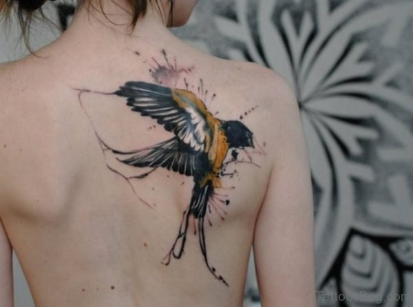 Swallow Tattoo On Back