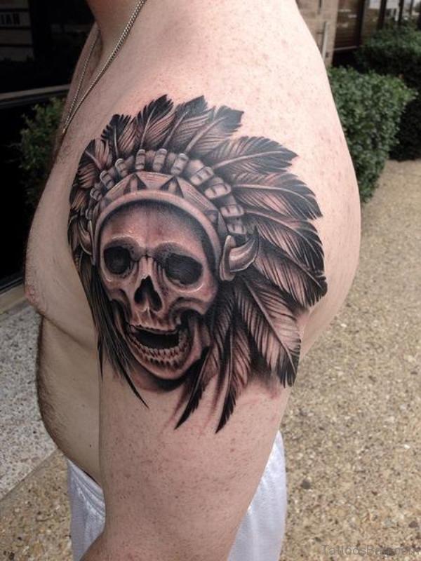 Sweeet Balck And Grey Skull Tattoo