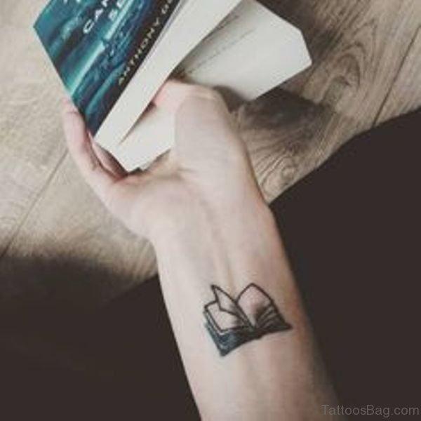 Sweet Book Tattoo On Wrist