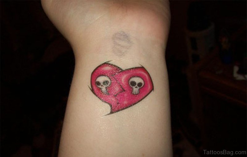 14 Lovely Broken Heart Tattoos On Wrist