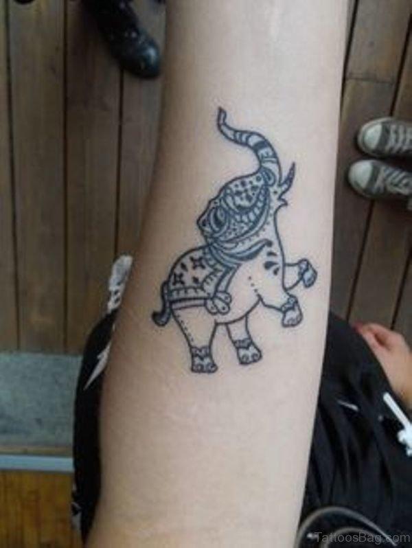 Sweet Forearm Elephant Tattoo
