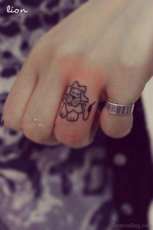 Sweet Lion Cartoon Tattoo