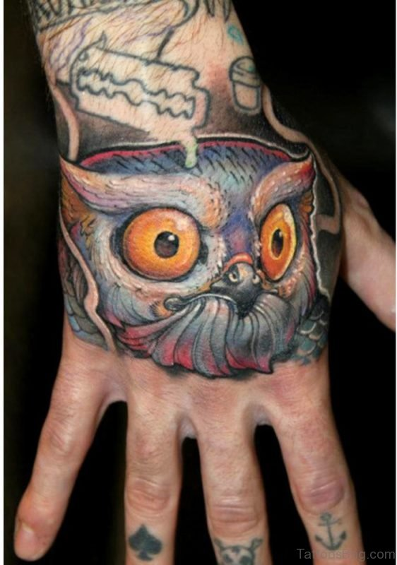 Sweet Owl Tattoo Design