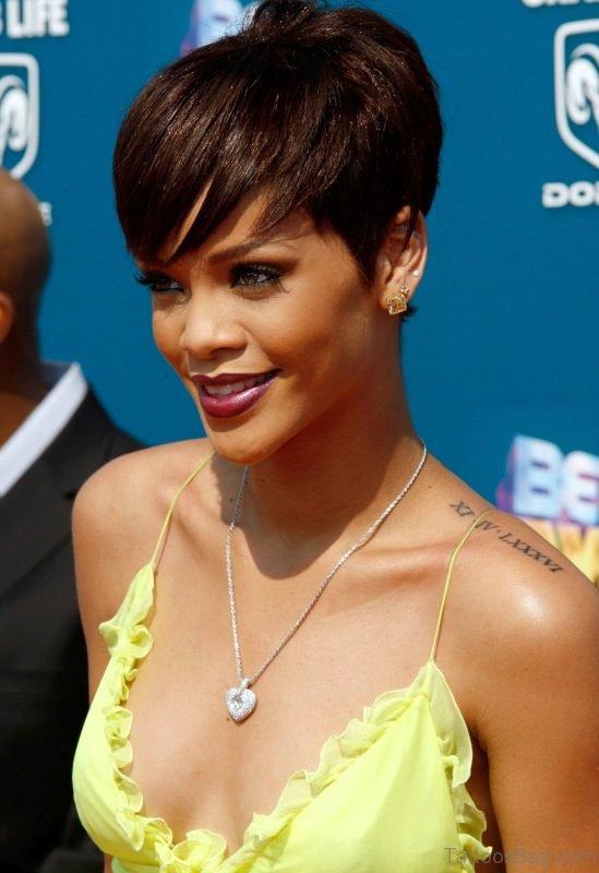 Sweet Rihanna Roman Tattoo