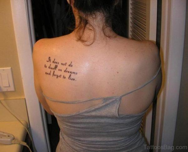 Sweet Wording Tattoo
