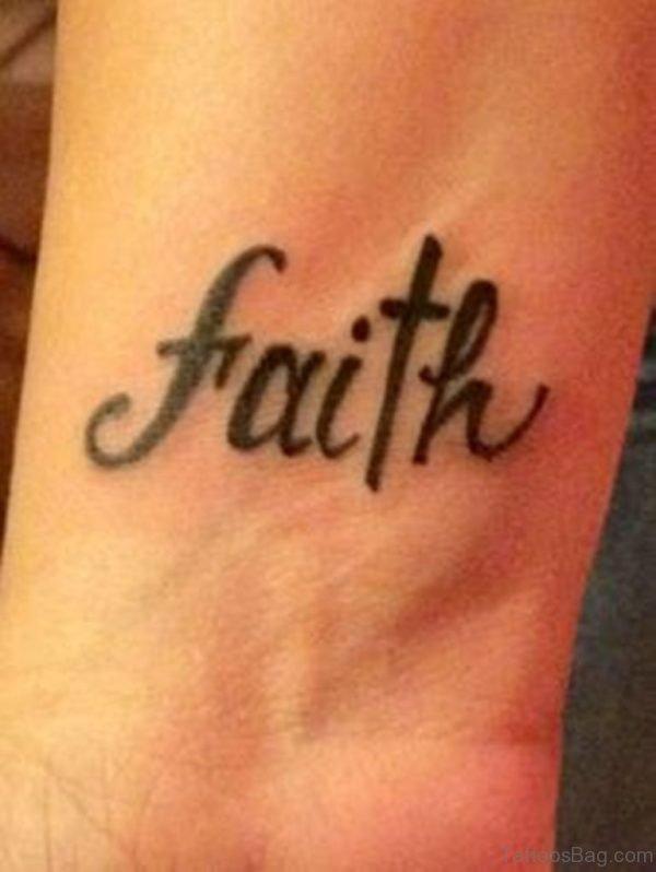 Sweet faith Tattoo On Wrist