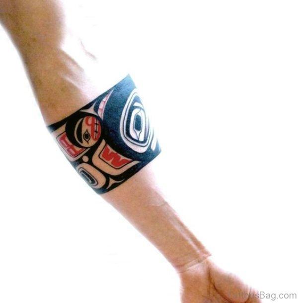 Terrific Band Tattoo On Arm