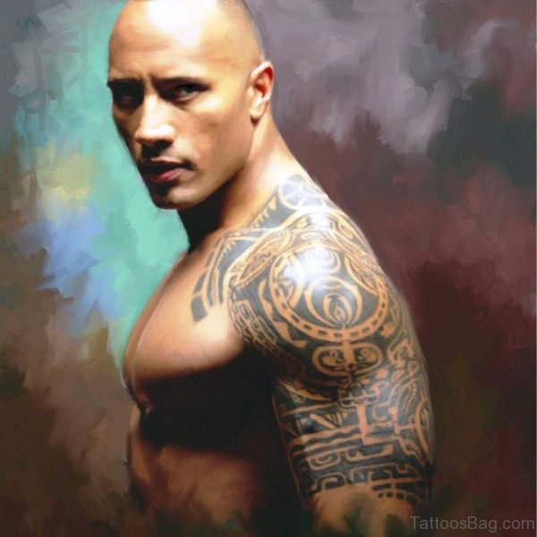 The Rock Shoulder Tattoo