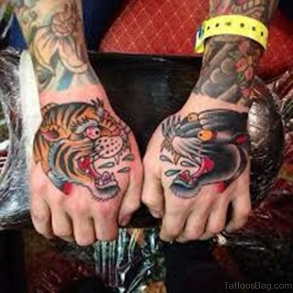 Tiger And Panther Tattoo