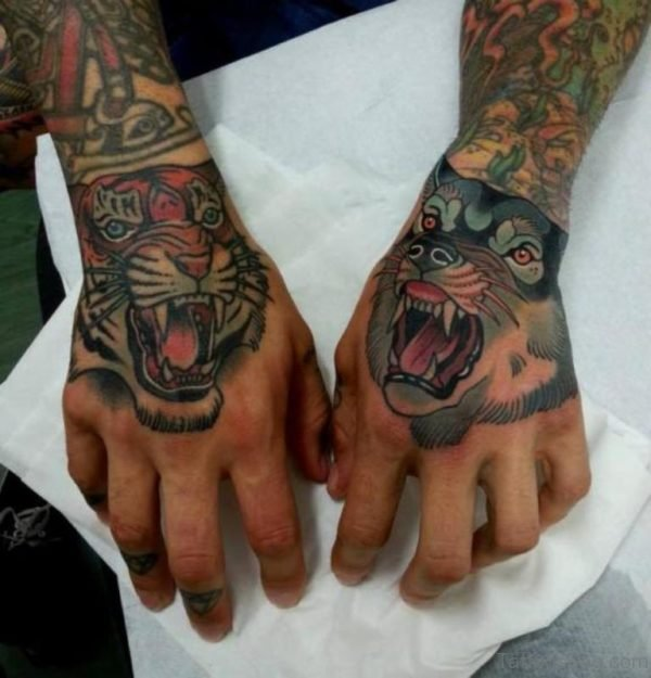 Tiger And Wolf Tattoo