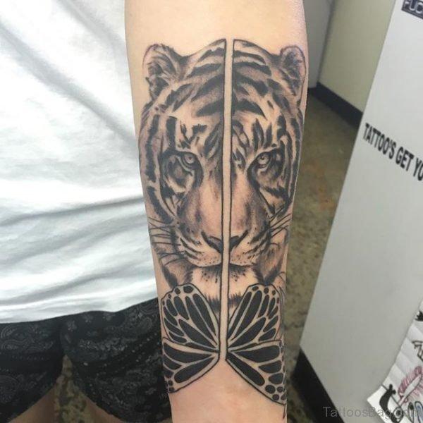 Tiger Tattoo On Arm TB1221