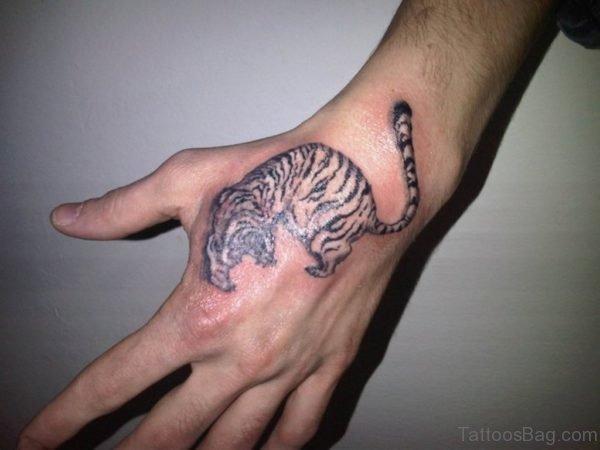 Tiger Tattoo On Hand