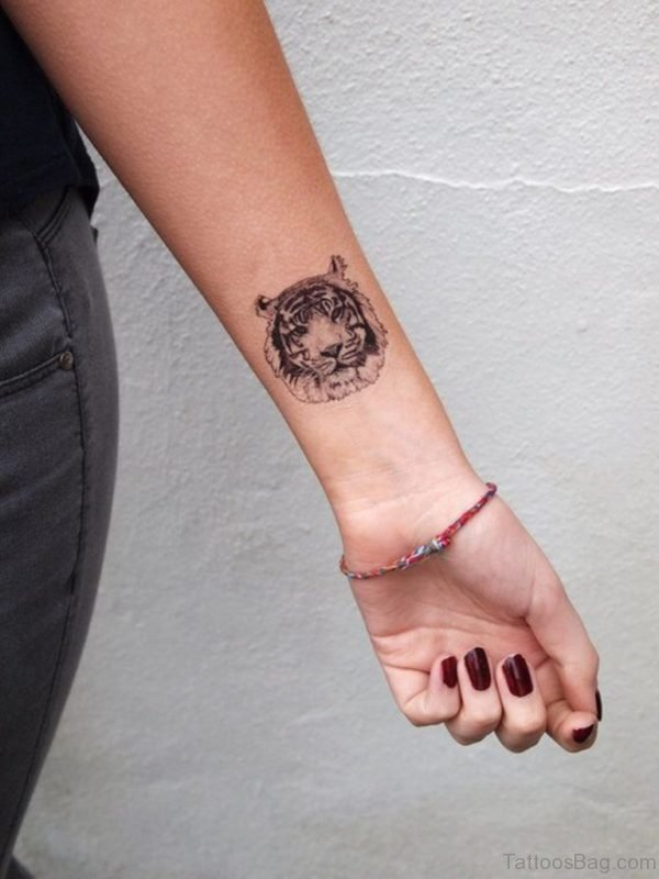 Tiger Tattoo On Wrist