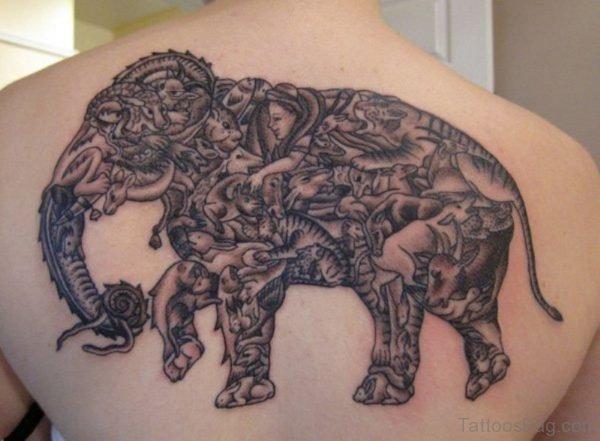 Traditional Elephnat Culture Tattoo