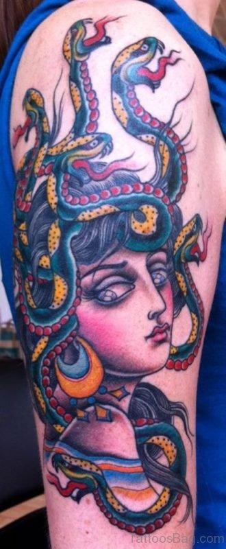 Traditional Medusa Tattoo