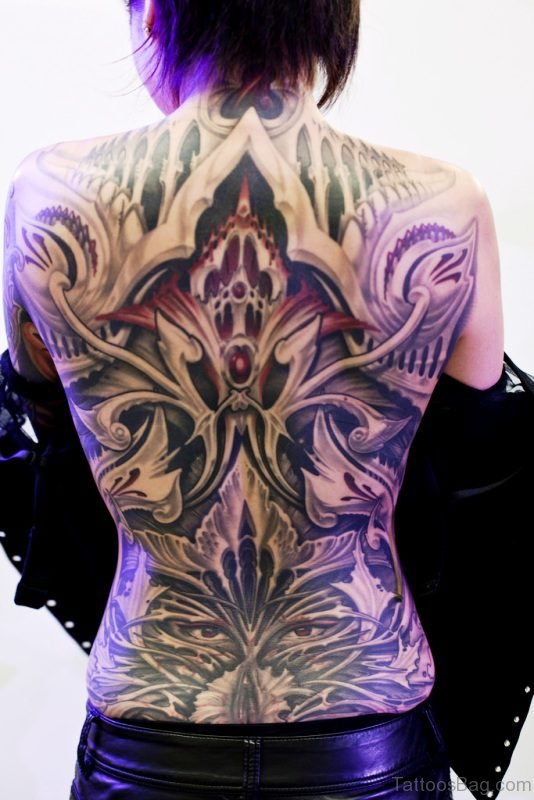 Traditional Tattoo On Back