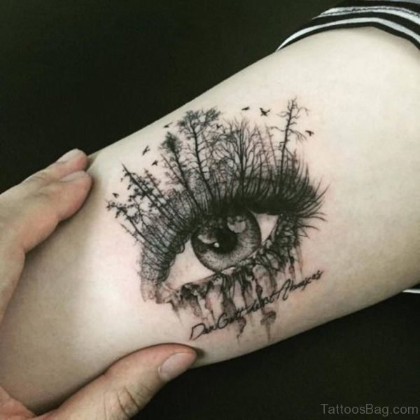 Tree Eye Tattoo