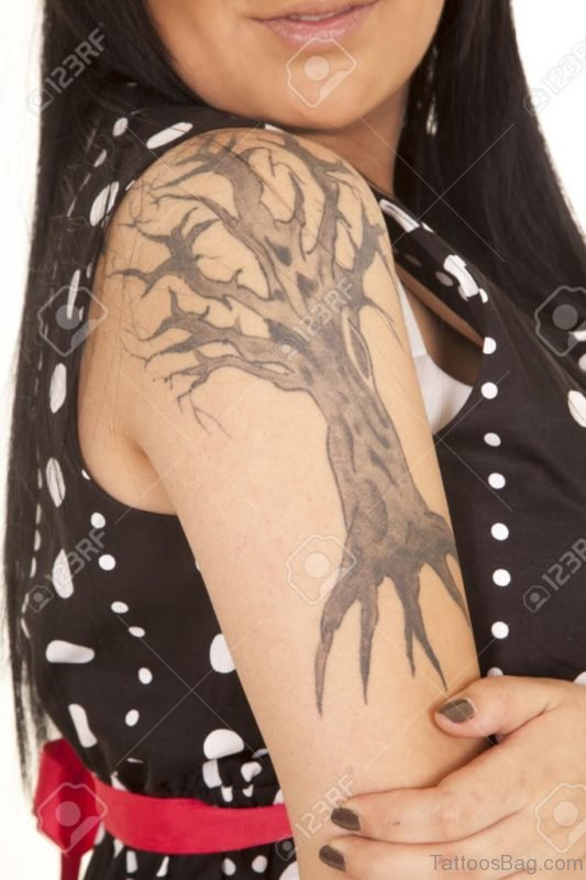 Tree Tattoo Design For Girls