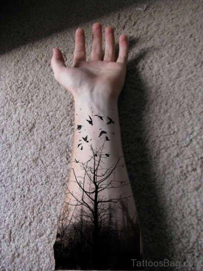 Tree Tattoo On Arm