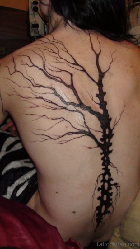 Tree Tattoo On Back Body