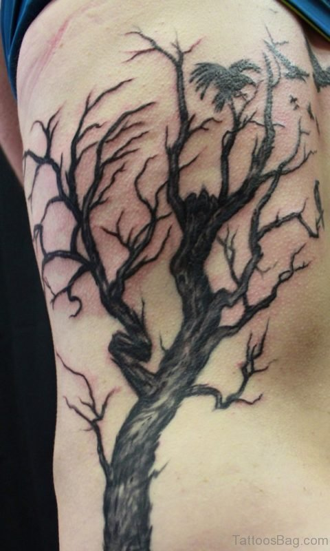 Tree Tattoo On Left Rib Cage