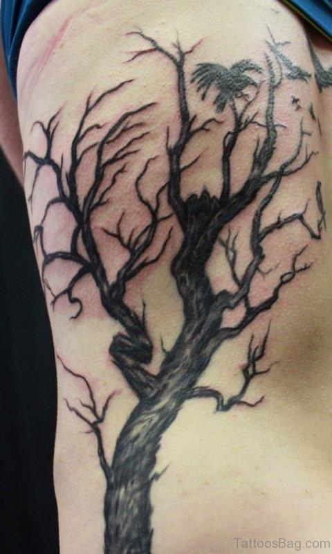 Tree Tattoo On Left Rib Cage