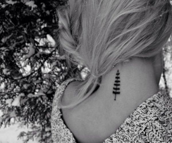 Tree Tattoo On Nape