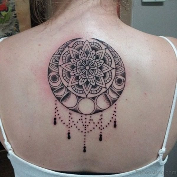 Trendy Mandala Tattoo On Neck