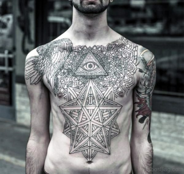 Triangle Chest Tattoo For Men
