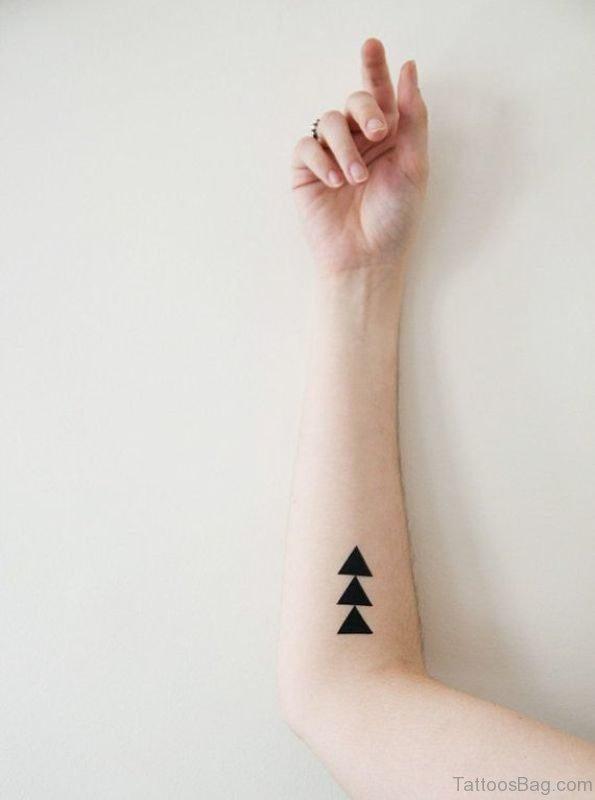 Triangles Tattoo On Arm