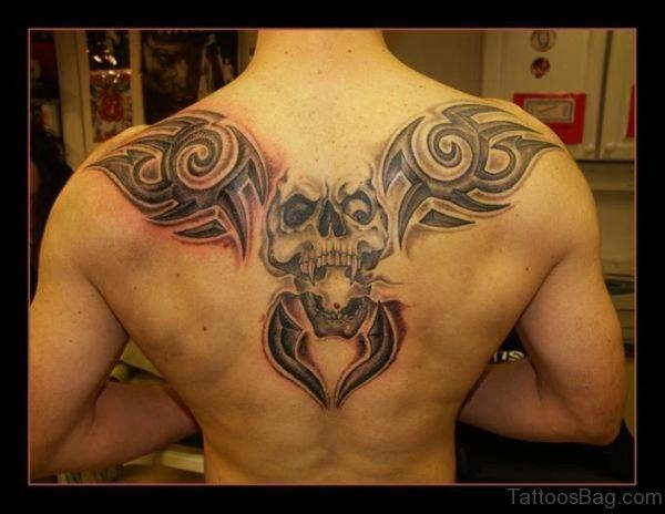 Tribal And Skull Tattoo