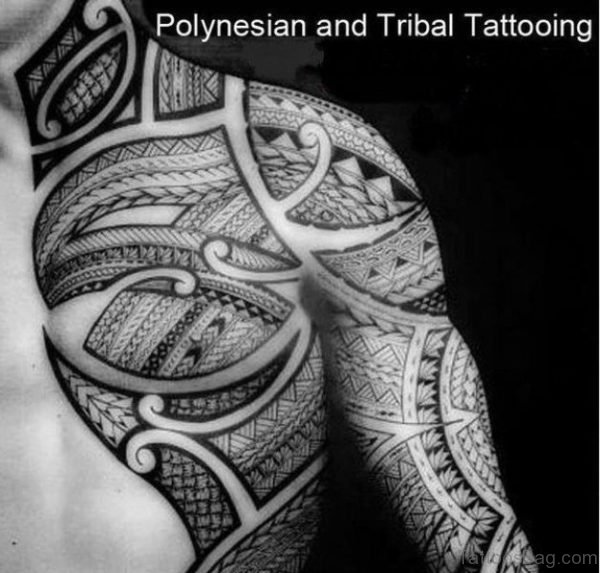 Tribal Balck And White Tattoo