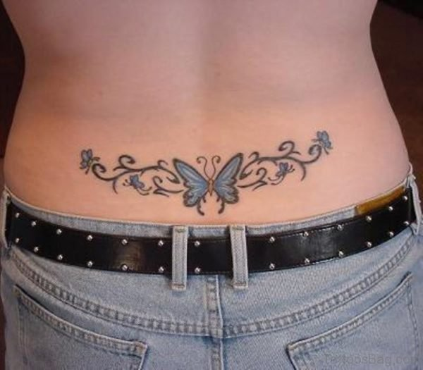 Tribal Butterfly Waist Tattoo