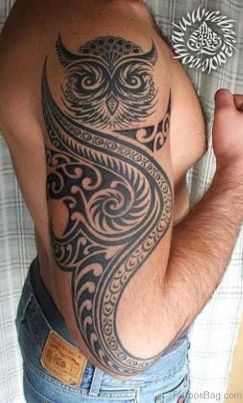 Tribal Owl Tattoo 1