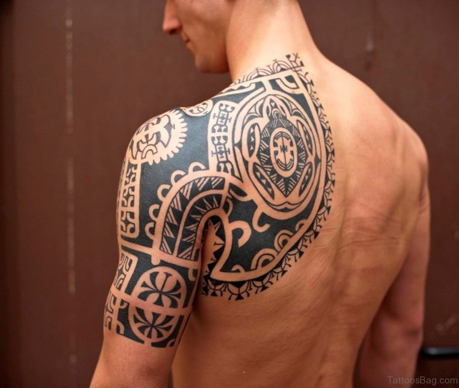 86 fabulous back tattoos for Tribal tattoos for the back