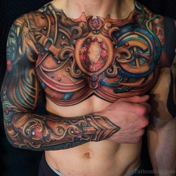 Tribal Chest Tattoo For Men