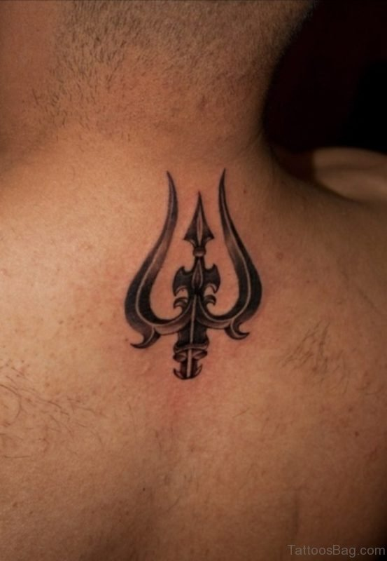 Trishul Tattoo On Back