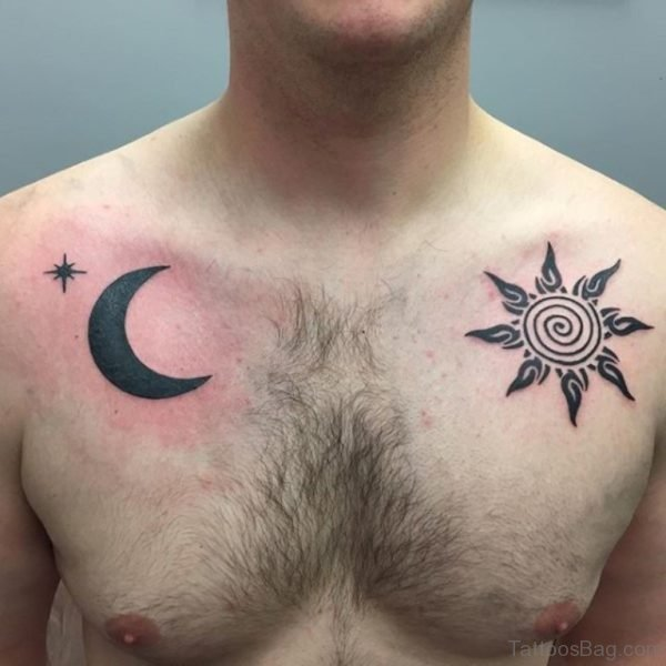 Ttibal Sun And Moon Tattoo