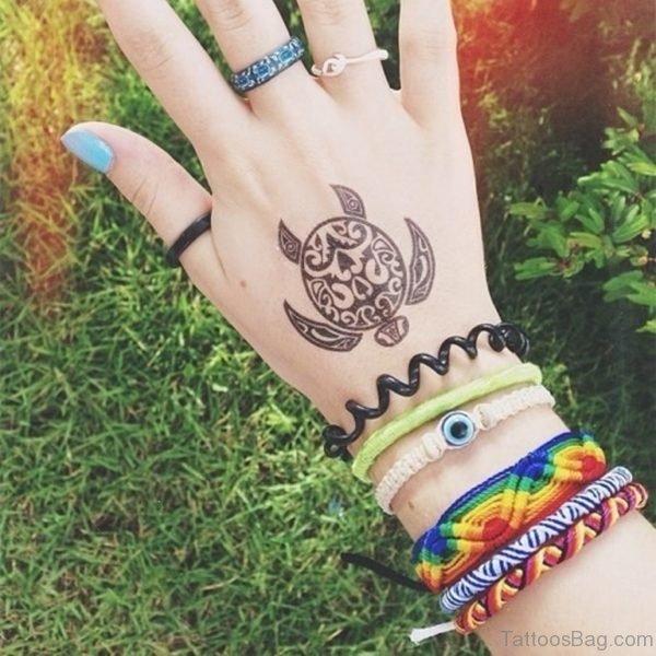 Turtle Tattoo On Hand