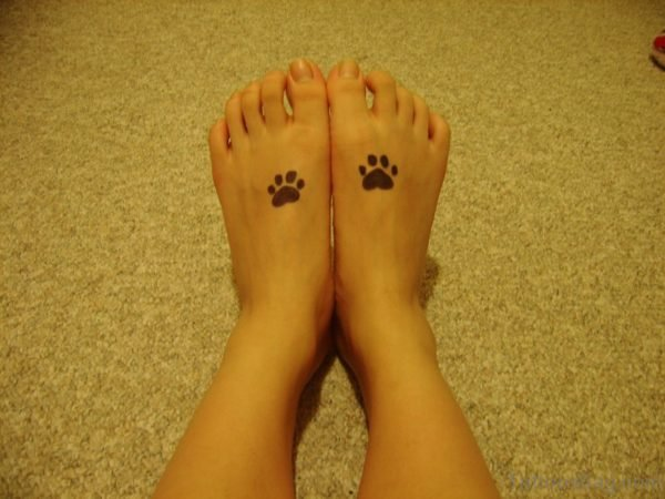 Two Paw Print Tattoo