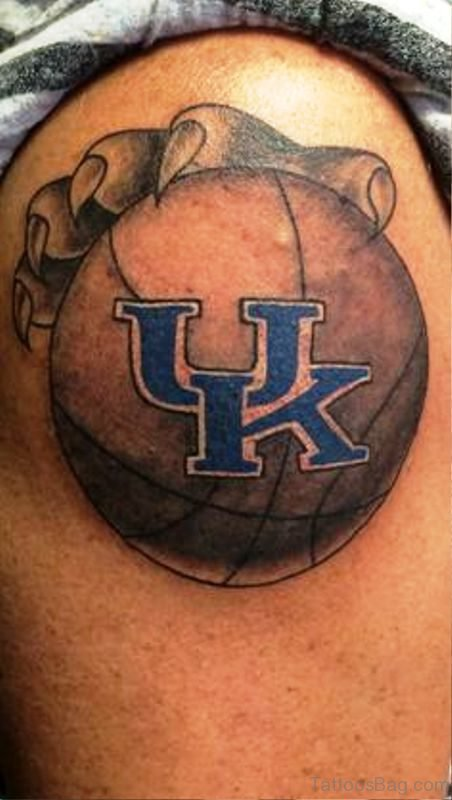 UK Basketball Tattoo With Hands