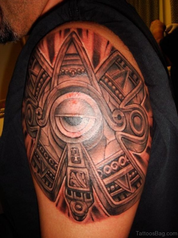 Ultimate Clock with skull and eye Tattoo