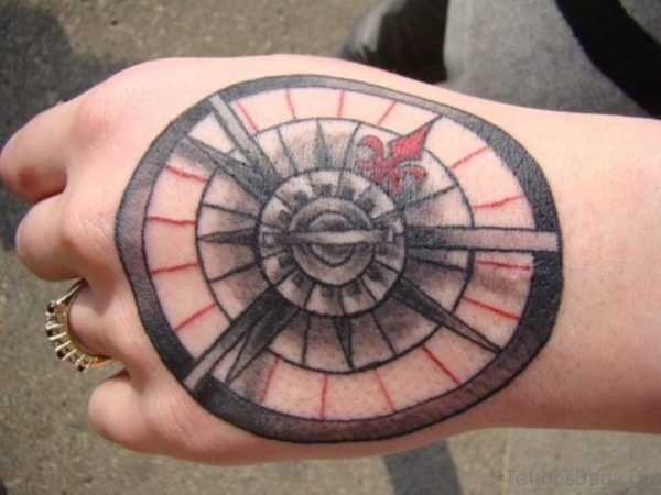Ultimate Compass Tattoo On hand