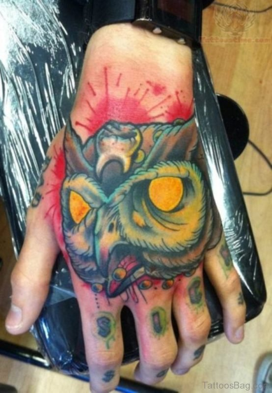 Ultimate Owl Tattoo On Hand