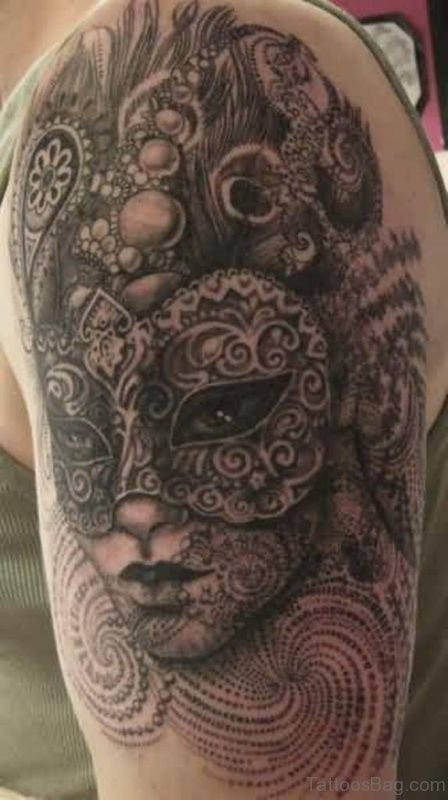 Ultimate Venetian Mask Tattoo