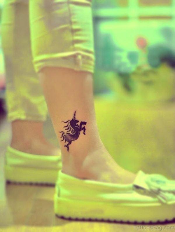 Unicorn Tattoo On Ankle TB1091 TB1199