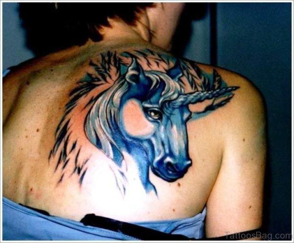 Unicorn Tattoo On Shoulder