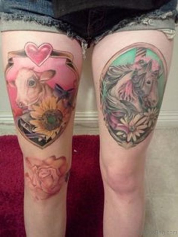 Unicorn Tattoo On Thigh