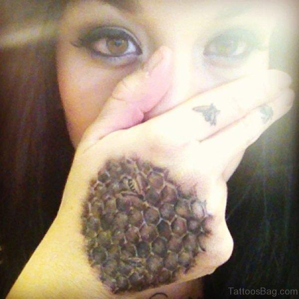 Unique Bee Tattoo