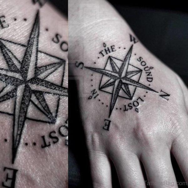 Unique Compass Tattoo